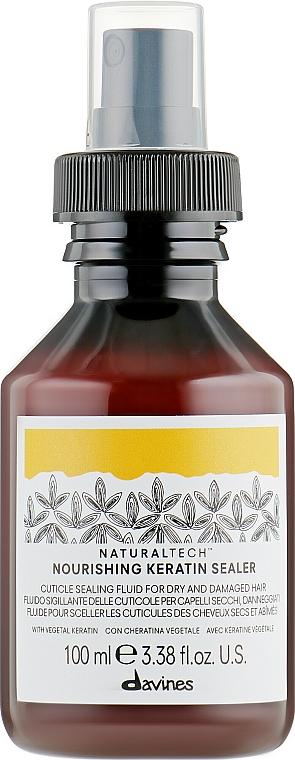 Fluide nourrissant à la kératine végétale pour cheveux - Davines Natural Tech Nourishing Keratin Booster