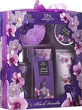 Parfums et Produits cosmétiques Set corps Vanille noire - Spa Moments Black Vanilla (gel douche/100ml + lotion corporelle/60ml + beurre corporel/50g+ sels de bain/50g + fleur de bain)