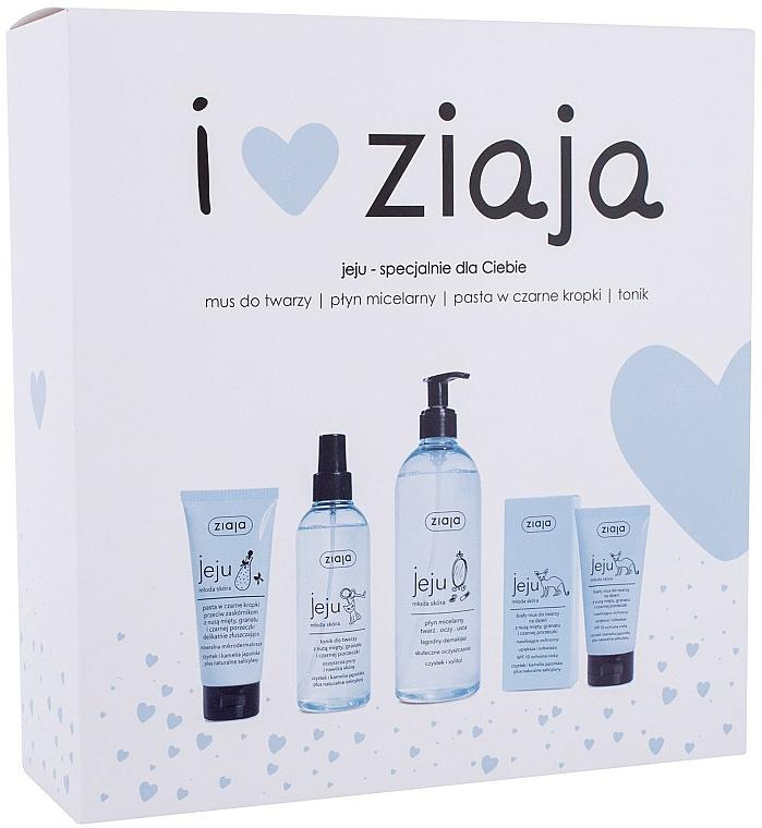 Coffret cadeau - Ziaja I Love Ziaja (f/paste/75ml + f/tonic/200ml + mincellar/water/390ml + f/muss/50ml)