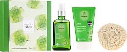 Parfums et Produits cosmétiques Coffret cadeau - Weleda Happy Skin (b/peel/150ml + b/oil/100ml + sh/sponge)