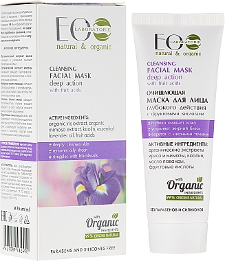 Masque au kaolin et huile essentielle de lavande pour visage - ECO Laboratorie Cleansing Facial Mask With Fruit Acids — Photo N1