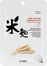 Parfums et Produits cosmétiques Masque tissu à l'extrait de son de riz pour visage - Mitomo Rice Leaven Essence Mask