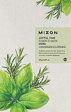 Parfums et Produits cosmétiques Masque tissu aux herbes pour visage - Mizon Joyful Time Essence Mask Herb