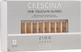Parfums et Produits cosmétiques Traitement en ampoules au glycogène pour cheveux 2100 - Crescina Hair Follicular Island 2100 Woman
