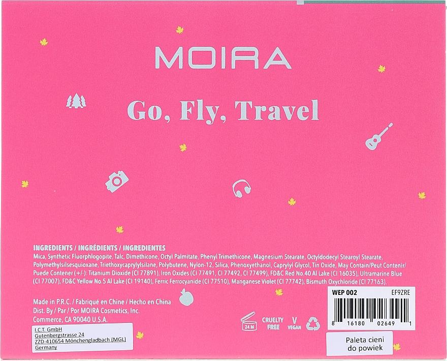 Palette d'ombres à paupières - Moira Happy Go, Fly, Travel Shadow Palette — Photo N3