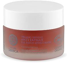 Parfums et Produits cosmétiques Masque à l'hydrolat de rhodiola rosea bio contour des yeux - Natura Siberica Organic Certified Anti-Fatigue Eye Patch-Effect Mask