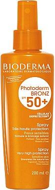 Spray solaire pour visage et corps - Bioderma Photoderm Bronz SPF50+ Protection Spray — Photo N1
