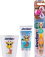 Parfums et Produits cosmétiques Jordan Kids - Set, Girafe (dentifrice/50ml + brosse à dents/1pcs + tasse)