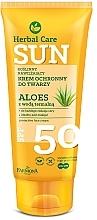 Parfums et Produits cosmétiques Crème solaire à l'aloe vera pour visage - Farmona Herbal Care Sun SPF 50
