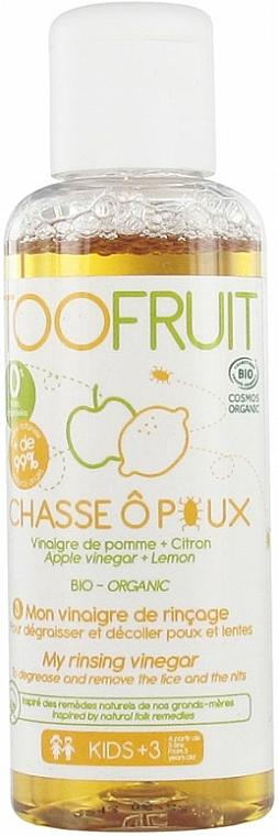 Vinaigre de rinçage au vinaigre de pomme et extrait de citron pour cheveux - Toofruit Lice Hunt Vinegar