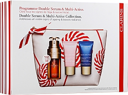Coffret cadeau - Clarins Double Serum & Multi-Active Set (serum/30ml + cr/gel/15ml + cr/15ml + bag) — Photo N1