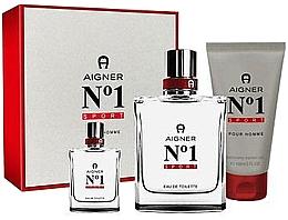 Parfums et Produits cosmétiques Aigner No 1 Sport - Set (eau de toilette/100ml + eau de toilette/8ml + gel douche/150ml)