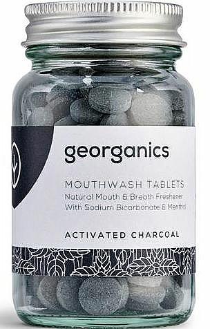 Comprimés de bain de bouche au charbon actif - Georganics Mouthwash Tablets Activated Charcoal — Photo N1