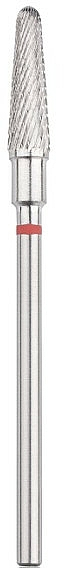 Fraise tungstène, cône arrondi, 4 mm., Rouge - Head The Beauty Tools — Photo N1