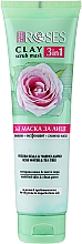 Parfums et Produits cosmétiques Masque à l'argile, eau de rose et arbre à thé pour visage - Nature Of Agiva Roses Green Clay 3 In 1 Scrub Mask