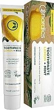 Parfums et Produits cosmétiques Dentifrice blanchissant, Citron et Menthe - Nordics Organic & Whitening Toothpaste Lemon + Mint