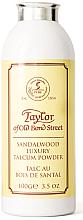 Parfums et Produits cosmétiques Taylor of Old Bond Street Sandalwood Luxury Talcum Powder - Talc au bois de santal pour visage et corps