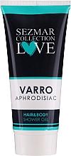 Parfums et Produits cosmétiques Gel douche à l'huile de graines de canneberge à gros fruits pour cheveux et corps - Hrisnina Cosmetics Sezmar Collection Love Varro Aphrodisiac Hair & Body Shower Gel