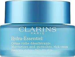 Parfums et Produits cosmétiques Crème à l'extrait de kalanchoé biologique pour visage - Clarins Hydra-Essentiel Rich Cream