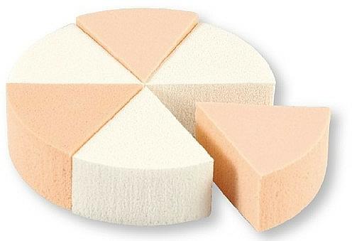 Éponges à maquillage, 3582, blanc + beige - Top Choice Foundation Sponges