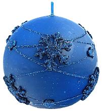 Parfums et Produits cosmétiques Bougie décorative, boule, bleu, 12 cm - Artman Snowflake Application