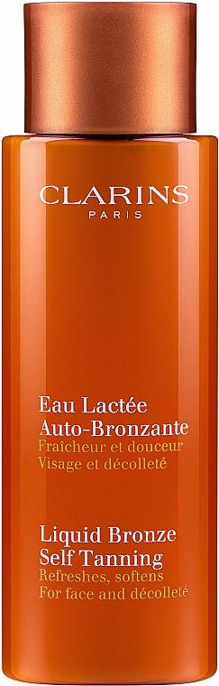 Eau lactée fraîcheur et douceur pour visage et décolleté - Clarins Liquid Bronze Self Tanning