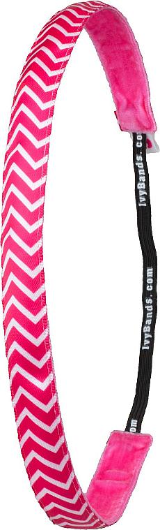 Bandeau pour cheveux, Chevron Pink - Ivybands