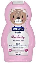 Parfums et Produits cosmétiques Gel nettoyant pour visage, corps et cheveux Guimauve - On Line Le Petit Marshmallow 3 In 1 Hair Body Face Wash