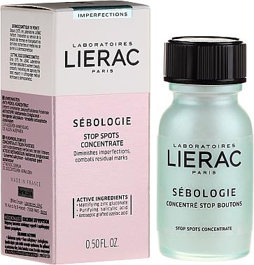 Concentré au gluconate de zinc, acide salicylique et acide azélaïque greffé pour visage - Lierac Sebologie Blemish Correction Stop Spots Concentrate