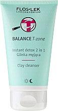 Parfums et Produits cosmétiques Emulsion et masque nettoyant pour peaux mixtes - Floslek Balance T-zone Instant Detox 2in1 Clay Cleanser