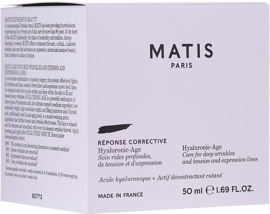 Crème à l'acide hyaluronique pour visage - Matis Reponse Corrective Hyaluronic-Age