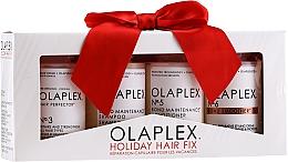 Parfums et Produits cosmétiques Olaplex Holiday Hair Fix - Coffret cadeau (après-shampooing/100ml + shampooing/100ml + crème coiffante/100ml + sérum/100ml)