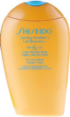 Lait bronzant waterproof pour corps et visage - Shiseido Suncare Tanning Emulsion N SPF 6 — Photo N2