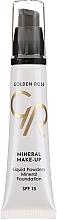 Parfums et Produits cosmétiques Fond de teint minéral - Golden Rose Liquid Powdery Mineral Foundation
