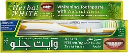 Parfums et Produits cosmétiques White Glo Herbal White - Set (dentifrice/100ml + brosse à dents/1)