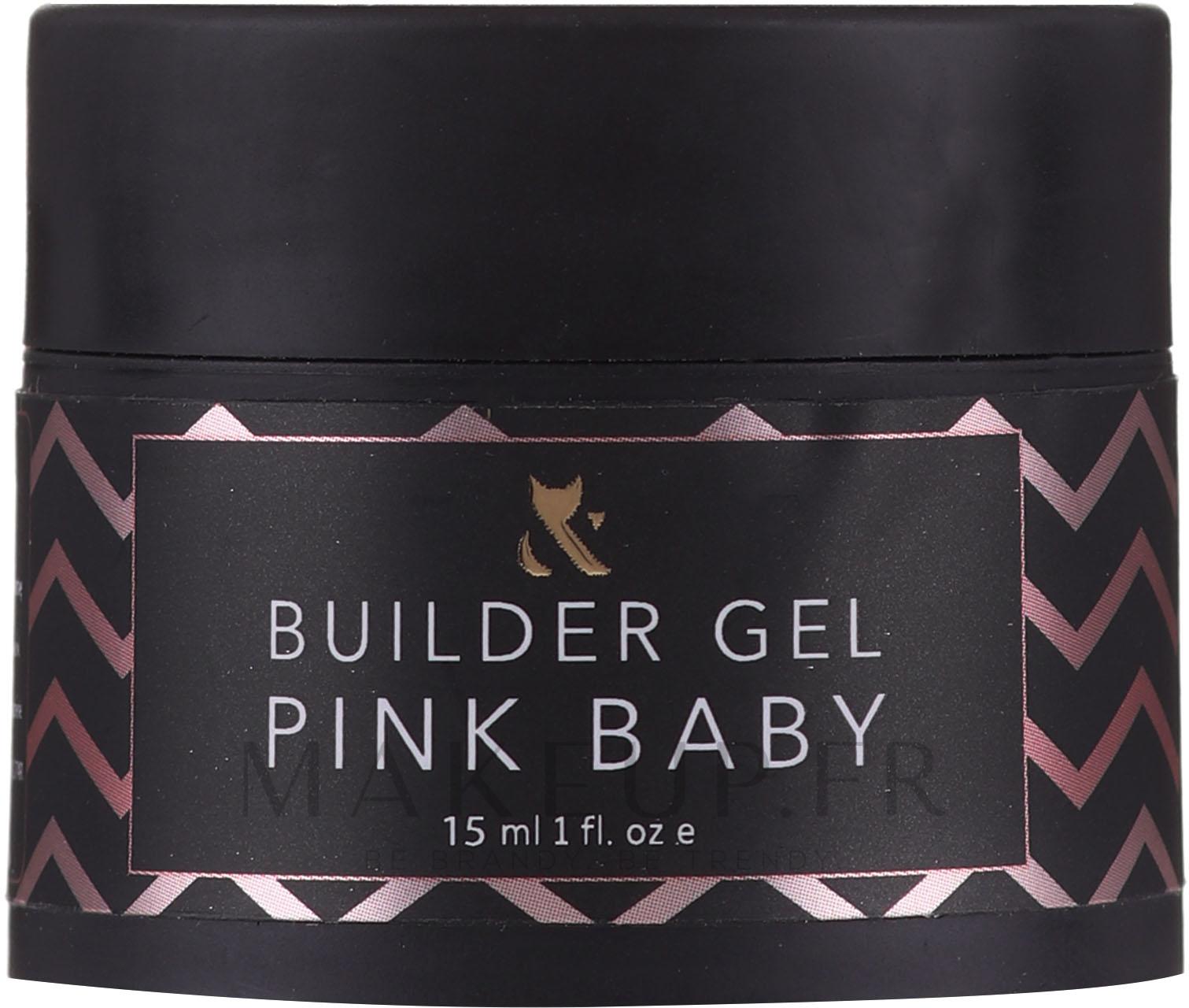 Gel de construction,rose - F.O.X Builder Gel Pink Baby — Photo 15 ml