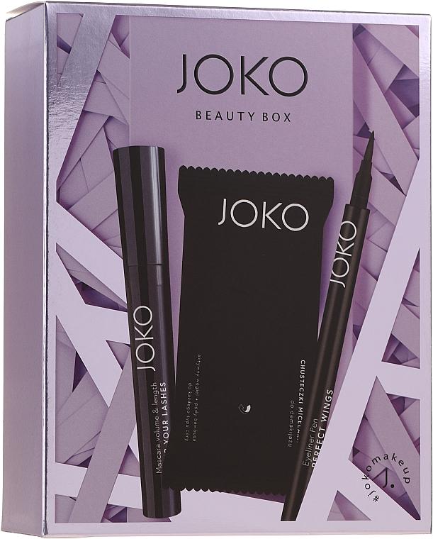 Kit de maquillage(mascara/9ml + eyeliner/5g + lingettes démaquillantes/15pcs) - Joko Makeup Beauty Box  — Photo N1