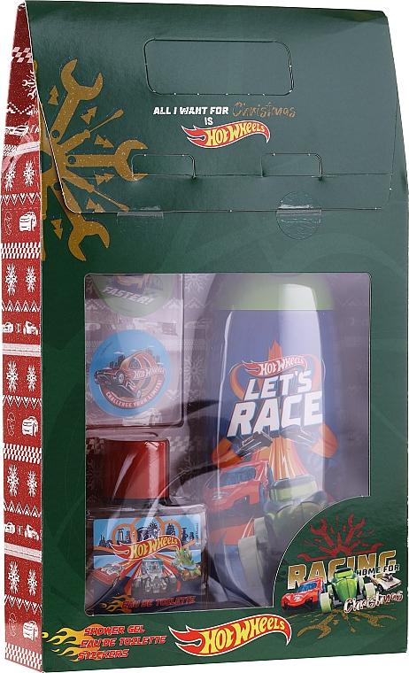 Uroda For Kids Hot Wheels - Set (gel douche et shampooing/250ml + eau de toilette/50ml + autocollants)