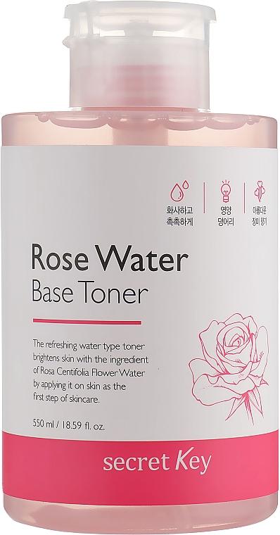 Lotion tonique à l'eau de rose - Secret Key Rose Water Base Toner