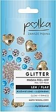 Parfums et Produits cosmétiques Masque peel-off à l'extrait de lin pour visage - Polka Glitter Peel Off Mask Flax