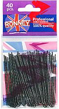 Parfums et Produits cosmétiques Épingles chignon noires, 70 mm, 40 pcs - Ronney Professinal Curly Hairpins