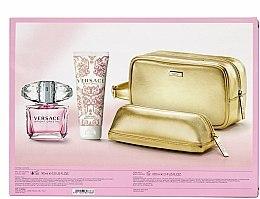 Parfums et Produits cosmétiques Versace Bright Crystal - Coffret (eau de toilette/90ml + lotion corporelle/100ml + trousse de toilette)