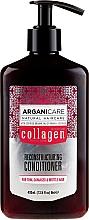 Parfums et Produits cosmétiques Après-shampoing à l'huile d'argan bio et collagène - Arganicare Collagen Reconstructuring Conditioner