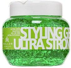 Parfums et Produits cosmétiques Gel coiffant à l'huile de ricin et vitamine B5, fixation ultra forte - Kallos Cosmetics