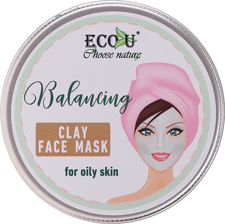 Masque équilibrant à l'argile blanche pour visage - Eco U Balancing Clay Face Mask For Oily Skin