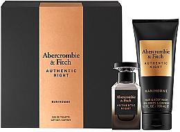 Parfums et Produits cosmétiques Abercrombie & Fitch Authentic Night Man - Coffret (eau de toilette/50/ml + gel nettoyant pour corps et cheveux/200ml)