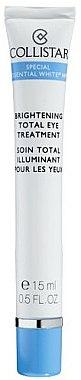 Crème illuminatrice contour des yeux - Collistar Special Essential White Brightening Total Eye Treatment — Photo N1