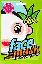 Parfums et Produits cosmétiques Masque tissu hydratant et éclaircissant à l'aloès pour visage - Bling Pop Aloe Moisturizing & Brightening Face Mask