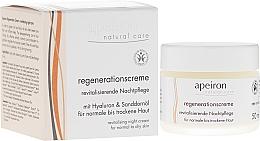 Parfums et Produits cosmétiques Crème de nuit à l'acide hyaluronique et huile d'argousier - Apeiron Night Regeneration Cream
