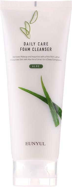 Mousse nettoyante à l'aloe vera pour visage - Eunyul Daily Care Aloe Foam Cleanser — Photo N1